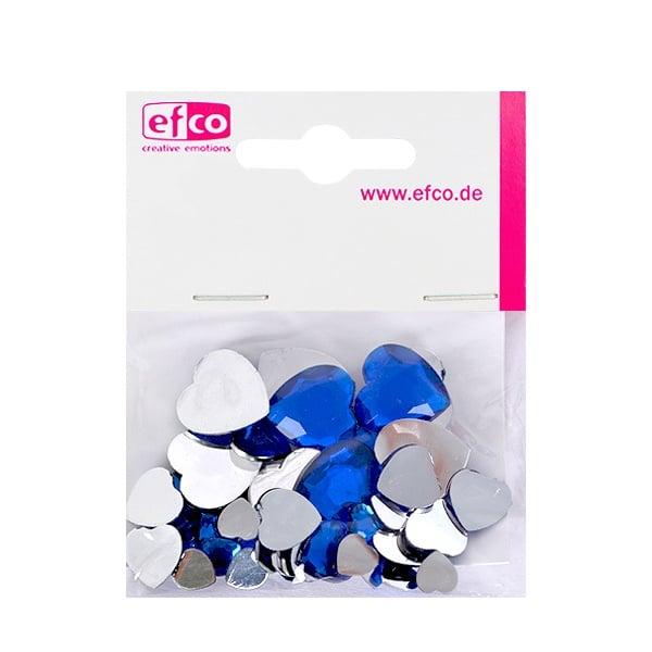 Декоративни камъчета, Acryl facettiert, Set Herz, сърце,  30 / 10 / 10 бр. Декоративни камъчета, Acryl facettiert, Set Herz, сърце, 30 / 10 / 10 бр., сини