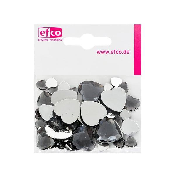 Декоративни камъчета, Acryl facettiert, Set Herz, сърце,  30 / 10 / 10 бр. Декоративни камъчета, Acryl facettiert, Set Herz, сърце, 30 / 10 / 10 бр., сиви