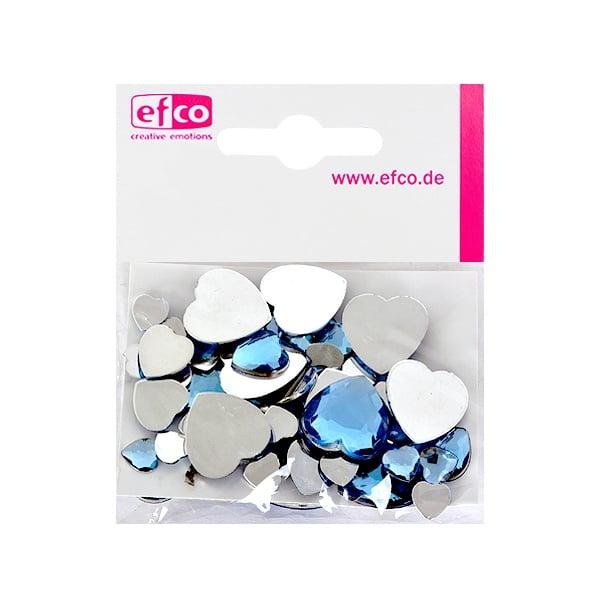 Декоративни камъчета, Acryl facettiert, Set Herz, сърце,  30 / 10 / 10 бр. Декоративни камъчета, Acryl facettiert, Set Herz, сърце, 30 / 10 / 10 бр., светло сини