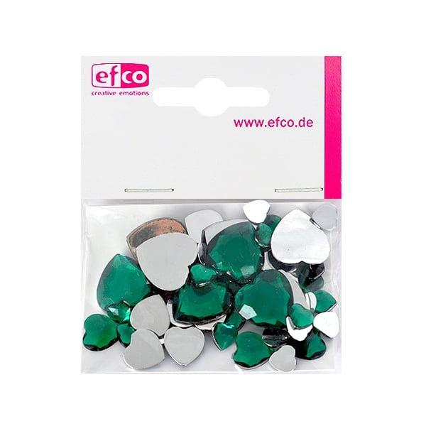 Декоративни камъчета, Acryl facettiert, Set Herz, сърце,  30 / 10 / 10 бр. Декоративни камъчета, Acryl facettiert, Set Herz, сърце, 30 / 10 / 10 бр., зелени