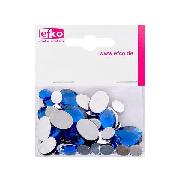 Декоративни камъчета, Acryl facettiert, Set Oval, 30/10/10/2 Stk. Декоративни камъчета, Acryl facettiert, Set Oval, овални, 30/10/10/2 Stk., сини