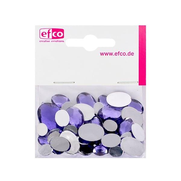 Декоративни камъчета, Acryl facettiert, Set Oval, 30/10/10/2 Stk. Декоративни камъчета, Acryl facettiert, Set Oval, овални, 30/10/10/2 Stk., светло лилави