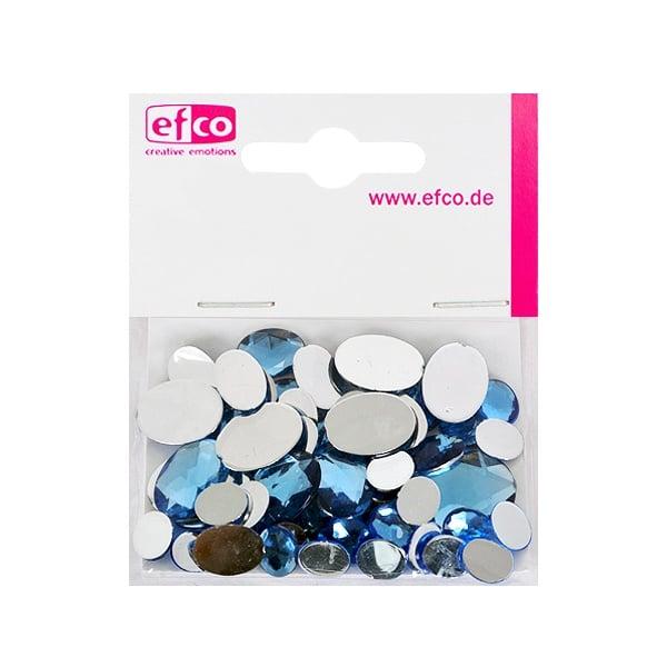 Декоративни камъчета, Acryl facettiert, Set Oval, 30/10/10/2 Stk. Декоративни камъчета, Acryl facettiert, Set Oval, овални, 30/10/10/2 Stk., светло сини