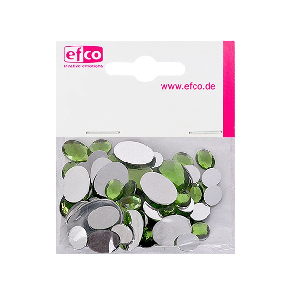 Декоративни камъчета, Acryl facettiert, Set Oval, 30/10/10/2 Stk. Декоративни камъчета, Acryl facettiert, Set Oval, овални, 30/10/10/2 Stk., светло зелени