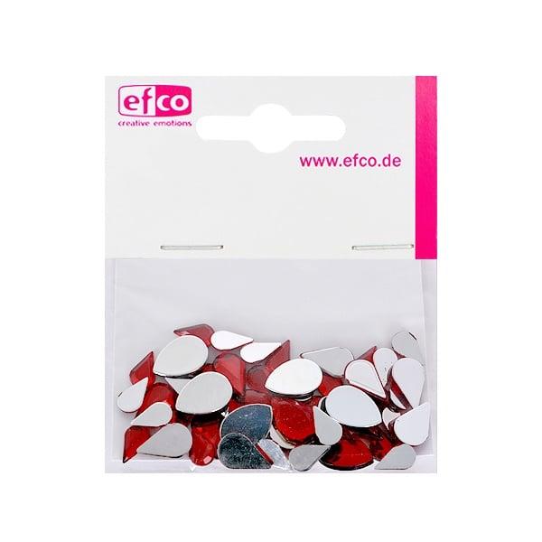 Декоративни камъчета, Acryl facettiert, Set Tropfen, капка, 6x10 / 8x13 / 10x14 mm Декоративни камъчета, Acryl facettiert, Set Tropfen, капка, 30 / 10 / 10 бр., червени