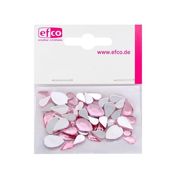 Декоративни камъчета, Acryl facettiert, Set Tropfen, капка, 6x10 / 8x13 / 10x14 mm Декоративни камъчета, Acryl facettiert, Set Tropfen, капка, 30 / 10 / 10 бр., роза