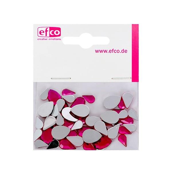 Декоративни камъчета, Acryl facettiert, Set Tropfen, капка, 6x10 / 8x13 / 10x14 mm Декоративни камъчета, Acryl facettiert, Set Tropfen, капка, 30 / 10 / 10 бр., розови