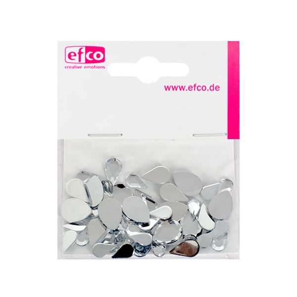 Декоративни камъчета, Acryl facettiert, Set Tropfen, капка, 6x10 / 8x13 / 10x14 mm