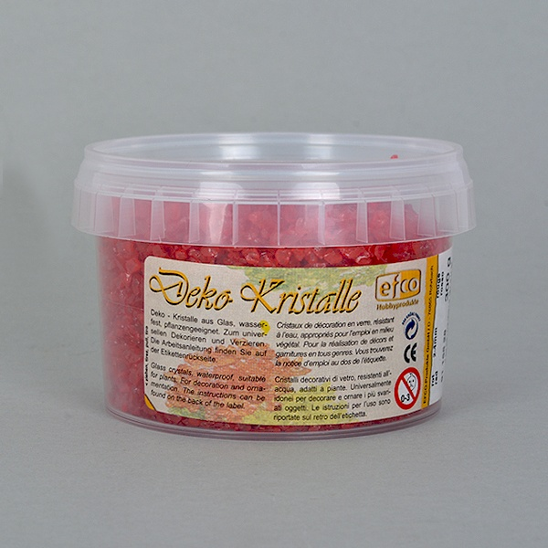 Декоративни кристали, Deko-Kristalle, 2 - 4 mm, 300 g, безцветни Декоративни кристали, Deko-Kristalle, 2 - 4 mm, 300 g, червени, прозрачни