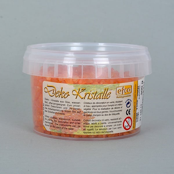 Декоративни кристали, Deko-Kristalle, 2 - 4 mm, 300 g, безцветни Декоративни кристали, Deko-Kristalle, 2 - 4 mm, 300 g, оражневи, прозрачни