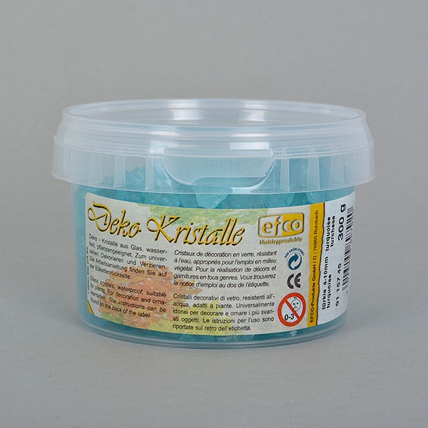 Декоративни кристали, Deko-Kristalle, 4 - 10 mm, 300 g, прозрачни Декоративни кристали, Deko-Kristalle, 4 - 10 mm, 300 g, тюркоазени, прозрачни