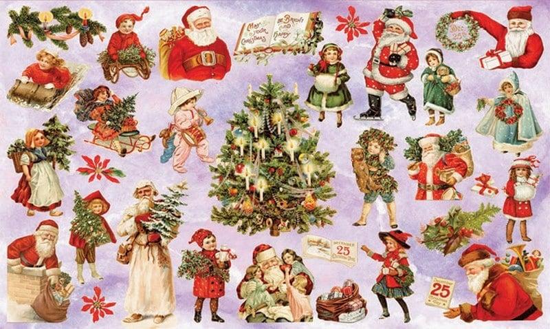 Алуминиево фолио, 20 х 30 см / 0,15 мм, 3 бр., двуцветно - червено и сребристо Декупажна хартия, 60 gr/m2, 33 x 48 cm, 1л, Коледа