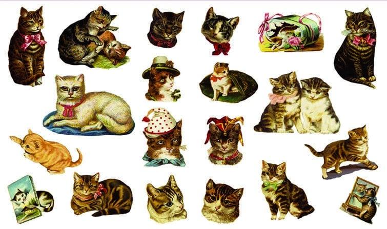 Декупажна хартия, 60 gr/m2, 33 x 48 cm, 1л, Котки