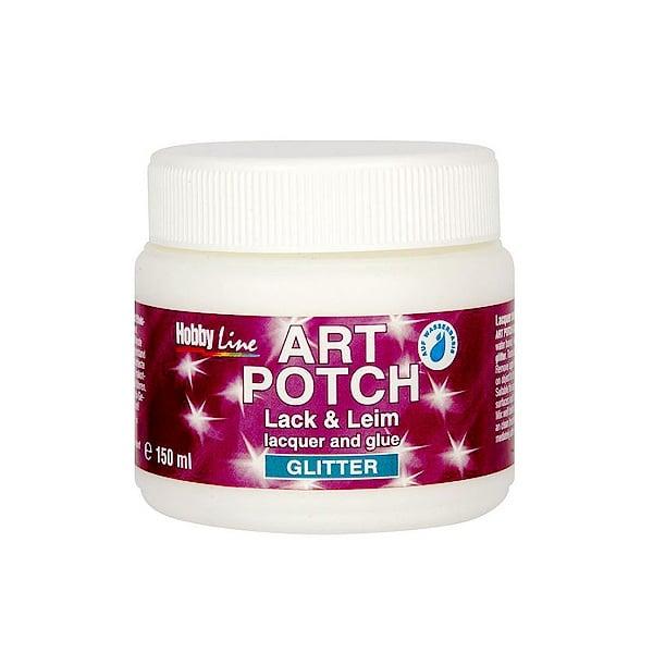 Алуминиево фолио, 20 х 30 см / 0,15 мм, 3 бр., двуцветно - червено и сребристо Декупажно лепило ART POTCH Lack & Leim Glimmer, 250 ml