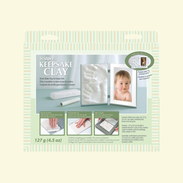 Детски комплект Keepsake Sculpey, бебе в бяло