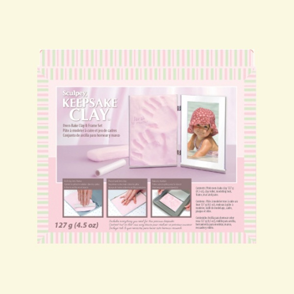 Детски комплект Keepsake Sculpey, бебе в розово