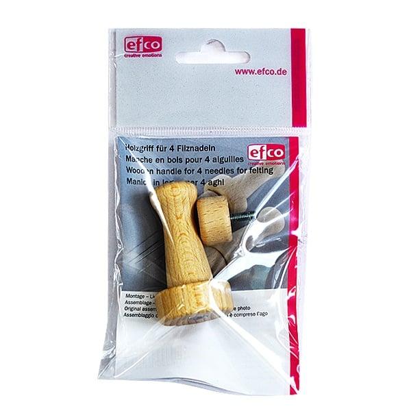 Дървени дръжки за игли за филц Дръжка дървена за 4 игли за филц, 2 части, 1 бр.