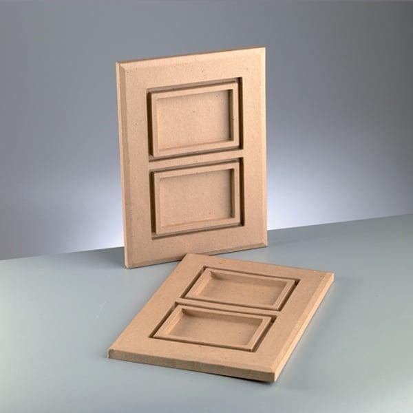 Двойна рамка от папие маше, 10 x 15 cm x 2, 40 x 29 x 2 cm
