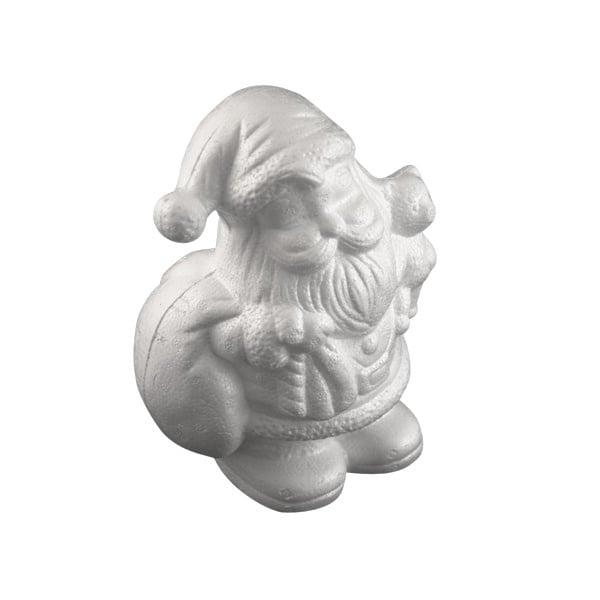 Дядо Коледа с мече от стиропор, бял, H 175 mm