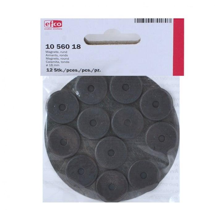 Магнити, кръгли, ф 18 мм, 12 бр.