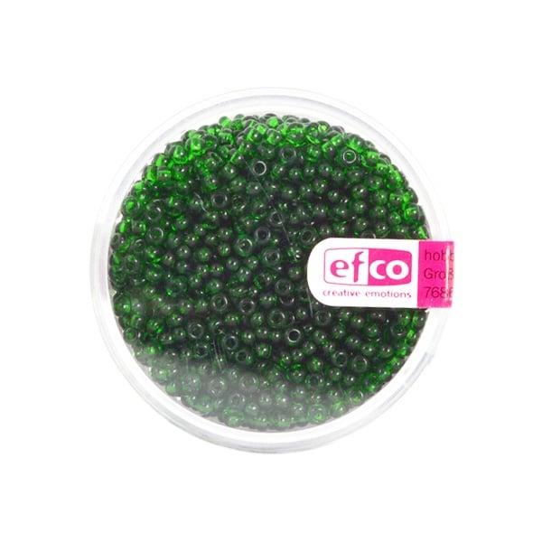 Индиански перли, непрозрачни, ф 2,6 mm, ~1100 бр. Индиански перли, прозрачни, ф 2,6 mm, ~1100 бр., светлозелени