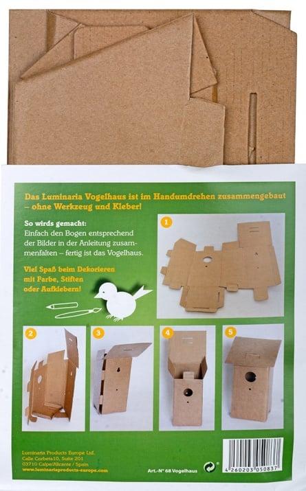 Комплект за сглобяване, Къщичка за птици, картон
