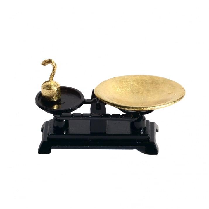 Миниатюра, кантар, 4,5 x 2 cm, 3 - черен/злато