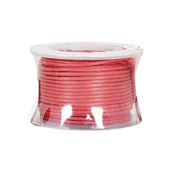 Восъчно памучен шнур, ф 0,5 mm, 9 m Восъчно памучен шнур, ф 0,5 mm, 9 m, тъмно червен