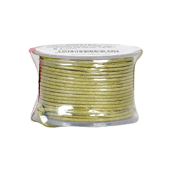 Восъчно памучен шнур, ф 0,5 mm, 9 m Восъчно памучен шнур, ф 0,5 mm, 9 m, маслено зелен
