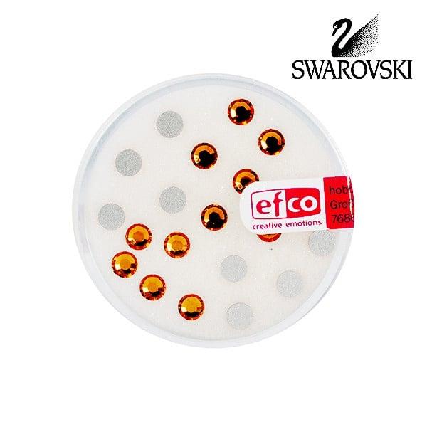 Кристали Swarovski, едностранно плоски, ф 4 mm, 20 бр.