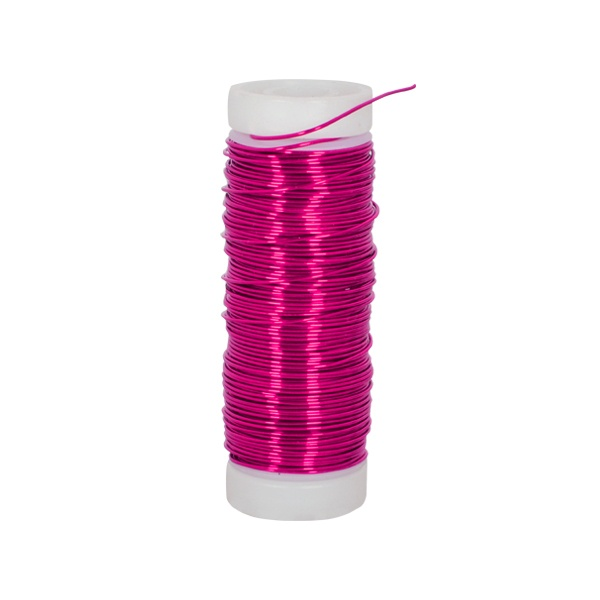 Медна тел, ф 0.50 mm, 25 m  Медна тел, ф 0.50 mm, 25 m, розов металик