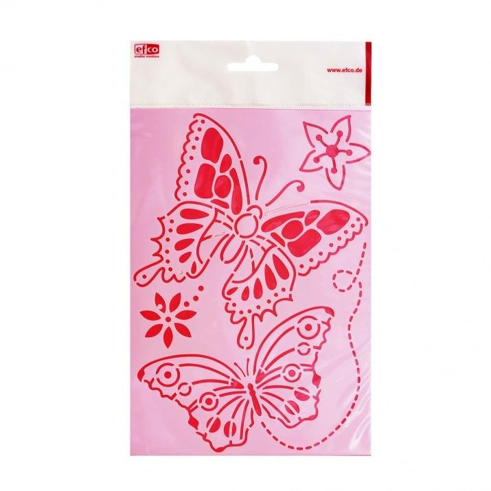 Шаблон, пеперуди/ 4 броя, A4