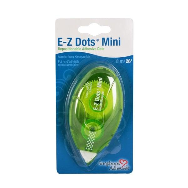 Алуминиево фолио, 20 х 30 см / 0,15 мм, 3 бр., двуцветно - червено и сребристо EZ Dots Mini двустранно лепяща лента
