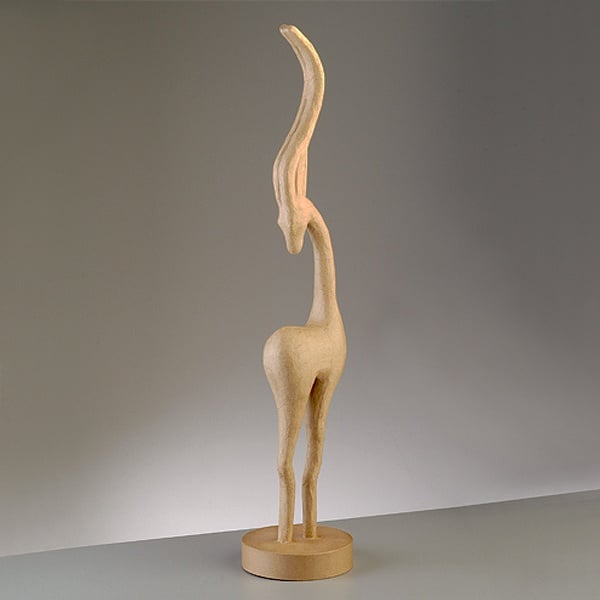Фигура от папие маше, антилопа, 82 x 17 cm