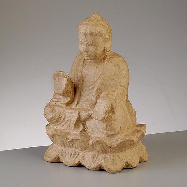 Фигура от папие маше, Буда, 30,5 x 20,5 x 17 cm