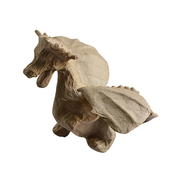 Фигура от папие маше, дракон, 19,5 х 23 х 15,5 см