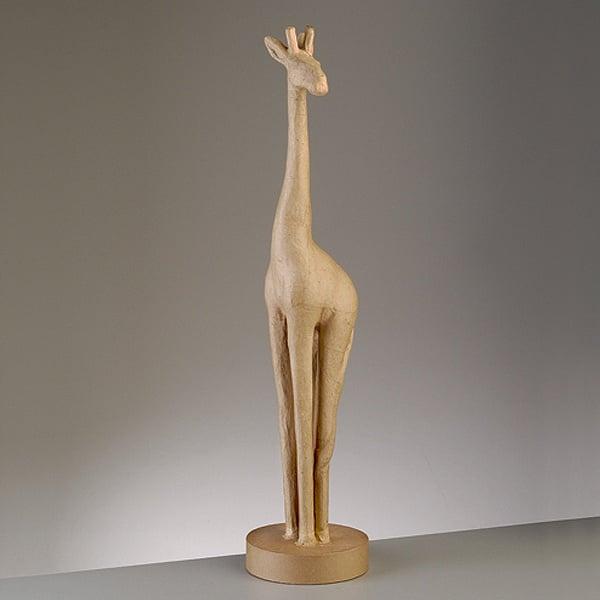 Фигура от папие маше, жираф, 74 x 14 cm