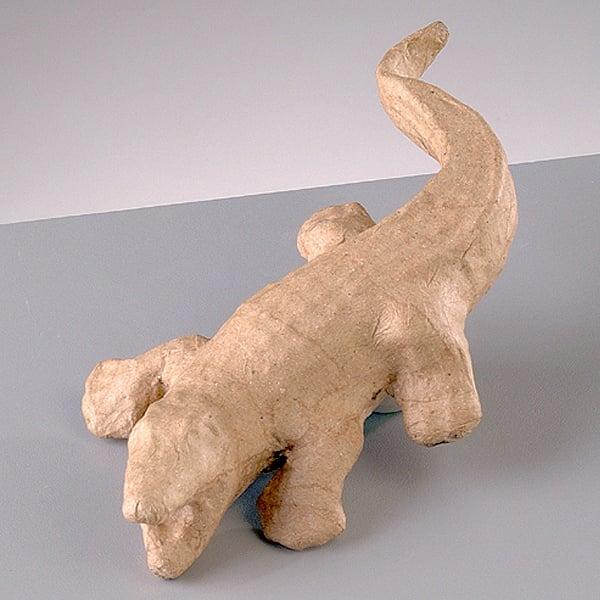 Фигура от папие маше, крокодил, 17 x 9,5 x 3 cm