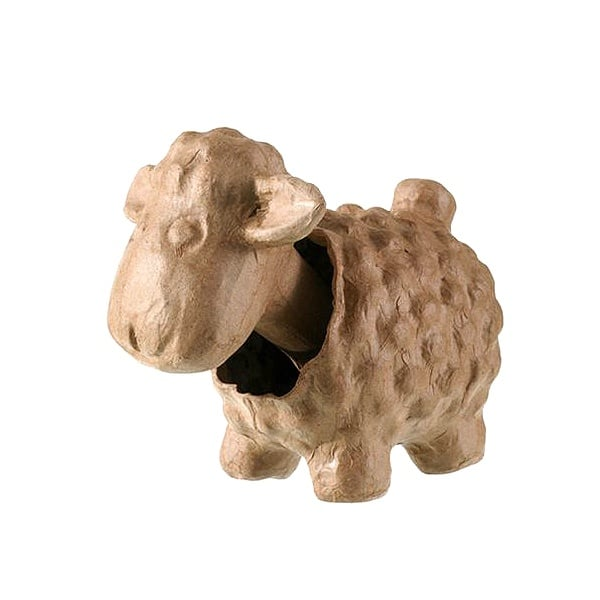 Фигура папие маше, овчица, 16,5 х 9 х 14,5 сm