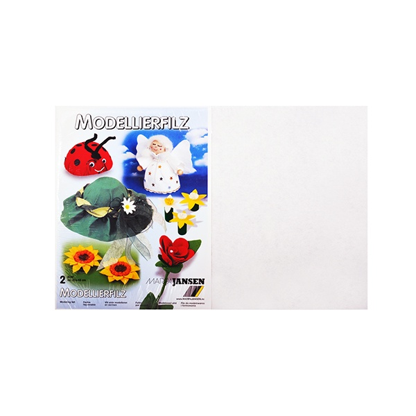 Филц моделиерски, 320 g/m2, 30 x 45 cm, 2л в пакет Филц моделиерски, 320 g/m2, 30 x 45 cm, 2л в пакет, бял