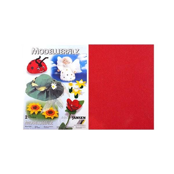 Филц моделиерски, 320 g/m2, 30 x 45 cm, 2л в пакет Филц моделиерски, 320 g/m2, 30 x 45 cm, 2л в пакет, червен