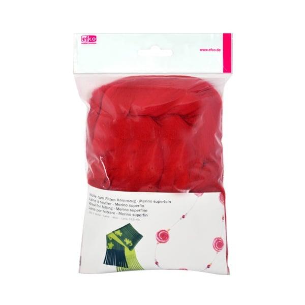 Филц от суперфино мерино, 50 g Филц от суперфино мерино, 50 g, червен