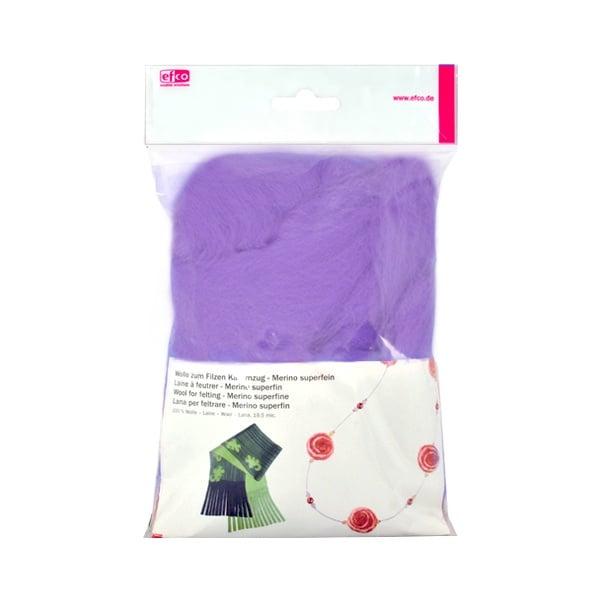 Филц от суперфино мерино, 50 g Филц от суперфино мерино, 50 g, лилав