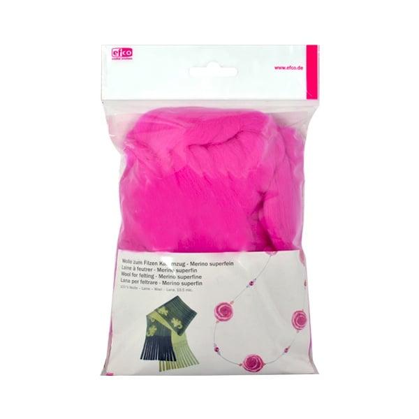 Филц от суперфино мерино, 50 g Филц от суперфино мерино, 50 g, розов