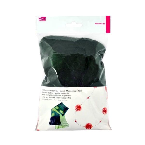 Филц от суперфино мерино, 50 g Филц от суперфино мерино, 50 g, тъмнозелен