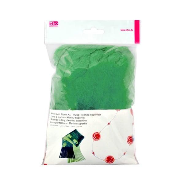 Филц от суперфино мерино, 50 g Филц от суперфино мерино, 50 g, зелен