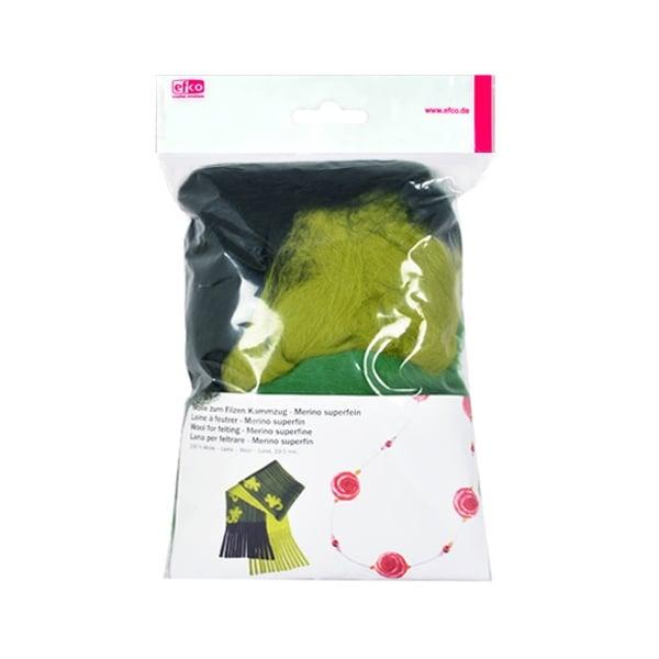 Филц от суперфино мерино, 50 g Филц от суперфино мерино, 50 g, зелен микс