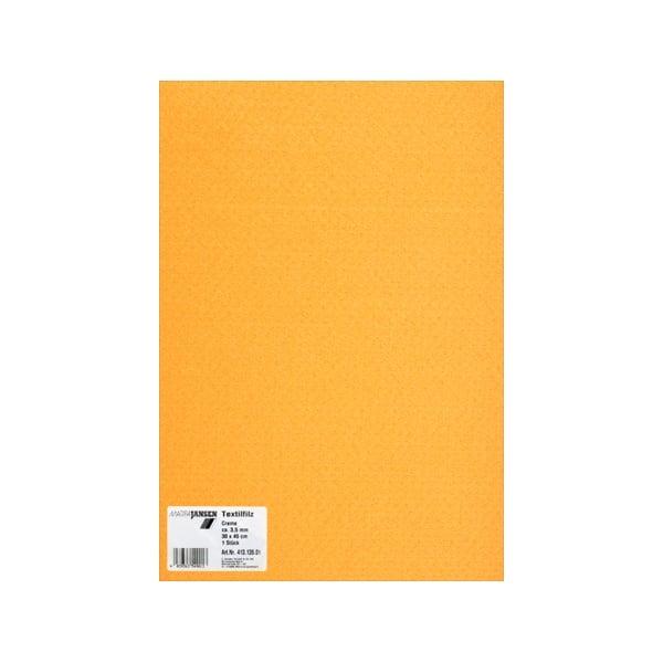 Филц текстилен, 3,5 mm, 30 x 45 cm, 1л в пакет Филц текстилен, 3,5 mm, 30 x 45 cm, 1л в пакет, царивечно жълт