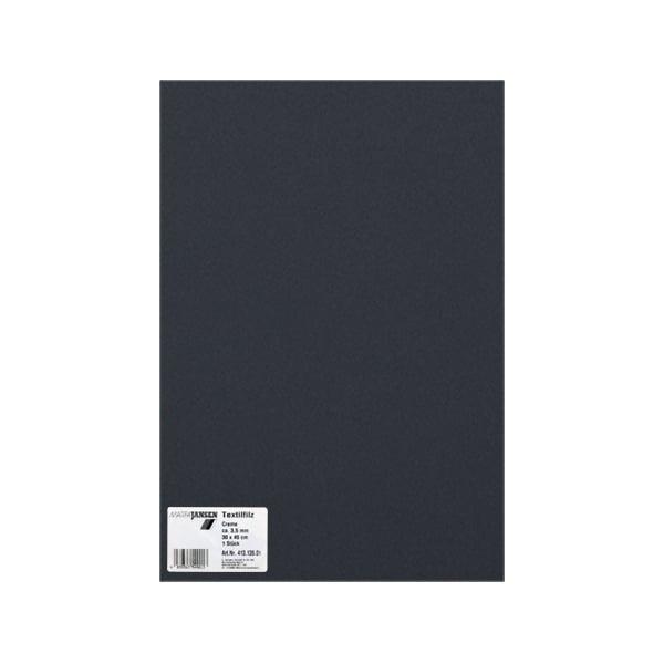 Филц текстилен, 3,5 mm, 30 x 45 cm, 1л в пакет Филц текстилен, 3,5 mm, 30 x 45 cm, 1л в пакет, черен