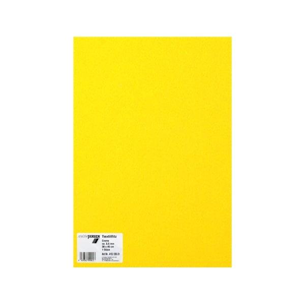 Филц текстилен, 3,5 mm, 30 x 45 cm, 1л в пакет Филц текстилен, 3,5 mm, 30 x 45 cm, 1л в пакет, лимонено